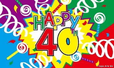 Happy 40th Birthday  (Streamers)